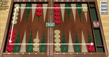 Set Up Backgammon Board